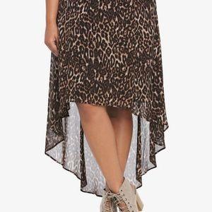 Torrid Hi-lo leopard skirt